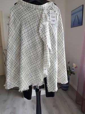 Zara Basic Falda cruzada blanco-negro