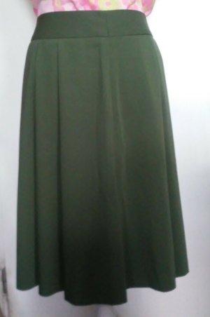 Lniana spódnica zielony-leśna zieleń