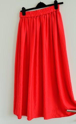 Mango Jupe à plis rouge