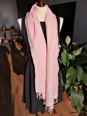 Pashmina rosa claro-rosa tejido mezclado