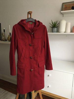 Benetton Manteau en laine rouge foncé
