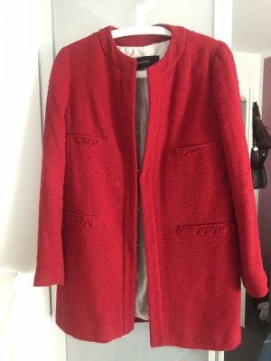 Zara Between-Seasons-Coat multicolored