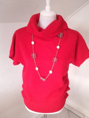 %%wunderschöner roter Pullover,Pulli,lässig,Gr.S/36/38