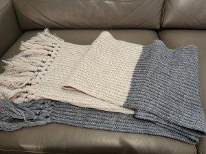 Esprit Bufanda de flecos beige claro-gris pizarra tejido mezclado