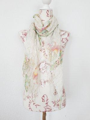 wunderschöner Schal mit Schmetterlingen aus Baumwoll -Gaze