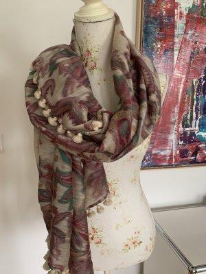 Wunderschöner Schal/ Stola aus Wolle Seide
