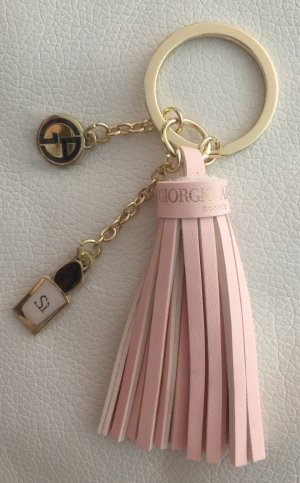 Giorgio  Armani Llavero color oro-rosa metal