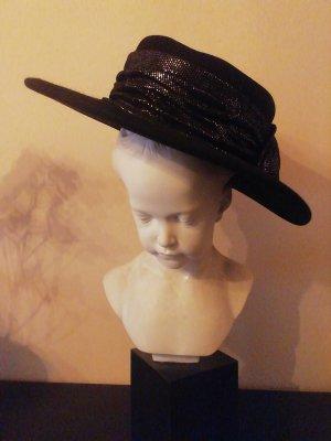 Sombrero de lana negro-color plata