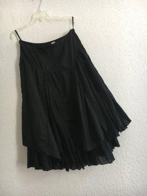 H&M Spódnica z falbanami czarny