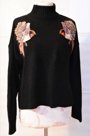 H&M Maglione oversize nero-arancione