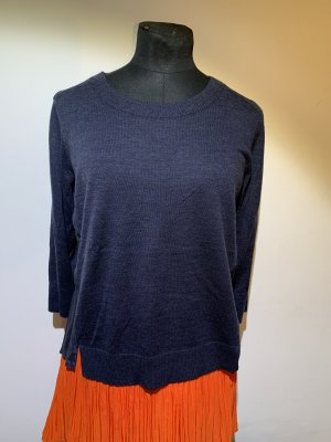 Club Monaco Fine Knit Jumper dark blue wool