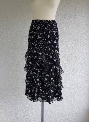 ae elegance Silk Skirt white-black silk