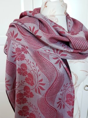 Fringed Scarf brown-red