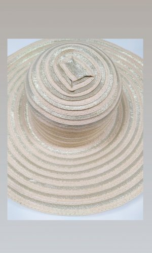 Straw Hat gold-colored-cream