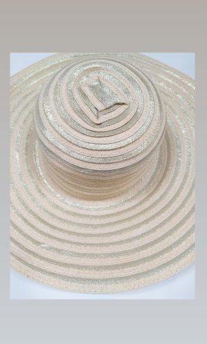 Chapeau de paille doré-crème