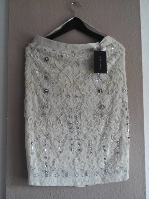 Zara Woman Koronkowa spódnica Wielokolorowy Bawełna