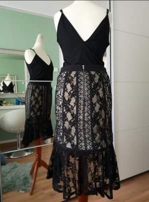 endless rose Lace Skirt black mixture fibre