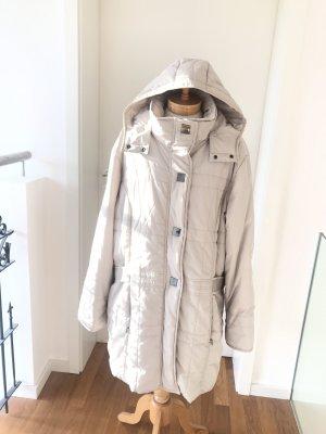 Gina Laura Gewatteerde jas licht beige-zilver Polyester