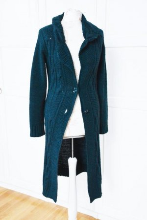 Knitted Coat petrol