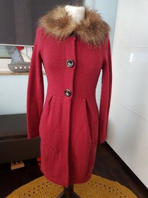 Boden Knitted Coat dark red