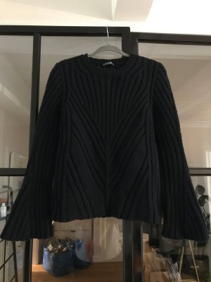 Alexander McQueen Knitted Sweater dark blue
