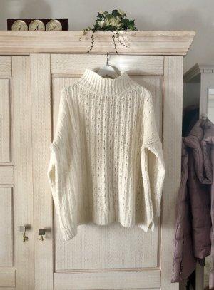 Adagio Jersey de punto blanco-blanco puro tejido mezclado