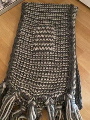 C&A Bufanda de punto gris claro-gris oscuro