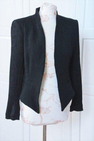 H&M Blazer de esmoquin negro-rosa empolvado