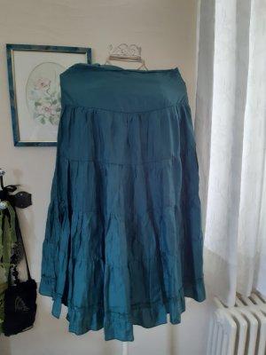 H&M Broomstick Skirt petrol