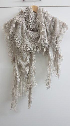Sciarpa lavorata a maglia beige chiaro