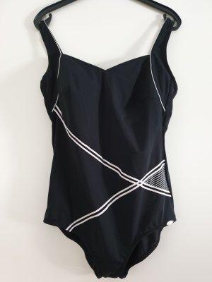Wunderschöner Sunflair Badeanzug Einteiler, Herzausschnitt, schwarz/ weiß, Gr. 48C