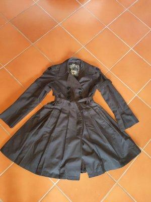 wunderschöner tellerrock Mantel Trenchcoat sehr feminin Prinzessinnen Mantel von Snob Größe 38