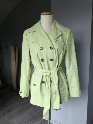 Wunderschöner Trenchcoat von Gil Bret Gr 36 Trench Coat Sommermantel Mantel Staubmantel hellgrün lindgrün Jacke