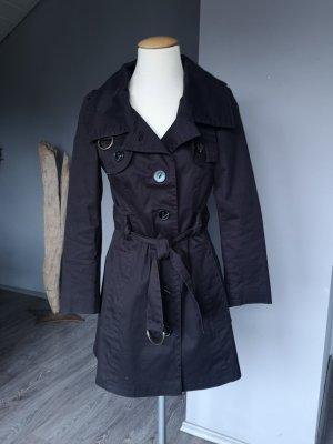 Wunderschöner Trenchcoat von Zara Basic Gr S Trench Coat Staubmantel Mantel Jacke Sommermantel dunkelbraun braun edel klassisch tailliert