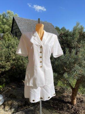 Wunderschöner Vintage-Anzug * kurzer Hosenanzug * mit Leinen
