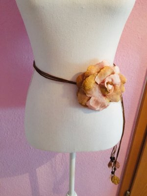 Wunderschöner Vintage Bindegürtel Erdtöne Große Blüte Elegant Festlich Highlight!! Neu