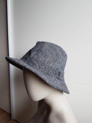 Wollen hoed zwart-wolwit