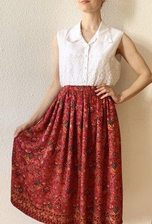 Wunderschöner, Vintagerock  mit Blumenmuster aus Seide