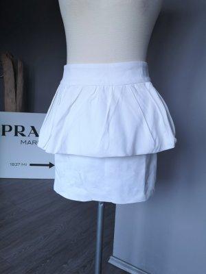 Zara Woman Gonna lunga stropicciata bianco