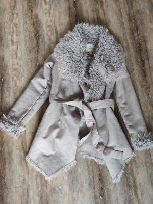 Review Manteau en laine gris brun
