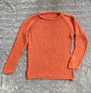 Coarse Knitted Sweater orange