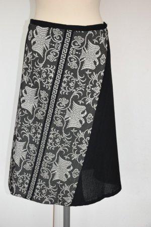 Falda cruzada negro Algodón