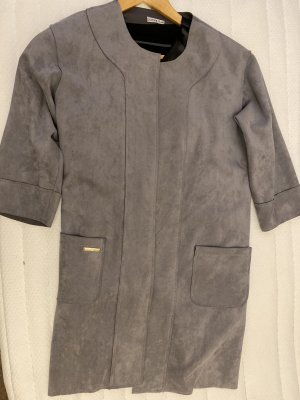 Oversized Coat silver-colored