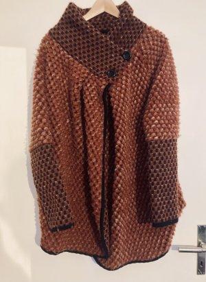 Vintage Manteau en laine multicolore