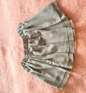 Zara Falda de talle alto gris-blanco