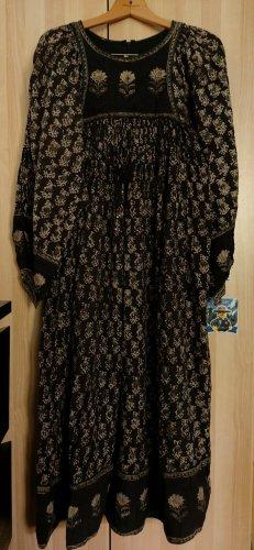 Caftán marrón-negro-blanco puro Algodón