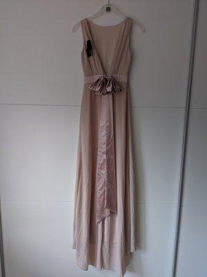 wunderschönes abendkleid brautjungfernkleid rosa maxikleid Größe XS 34