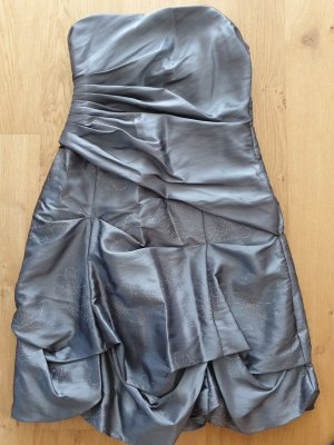 Sixth Sense Evening Dress silver-colored polyester