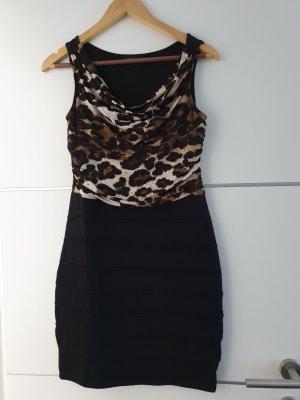 Lascana Robe de soirée noir-chameau polyester