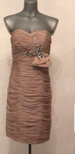 Wunderschönes Abendkleid von Marke, JuJu&Christine in Größe 36 beige  und roséfarben